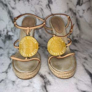 LOUIS VUITTON  Trunks & Bags wedge sandals - 37